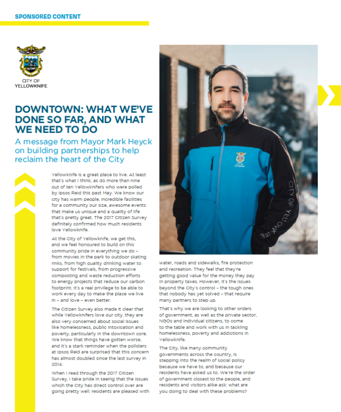 Mayors Update on Yellowknife Downtown