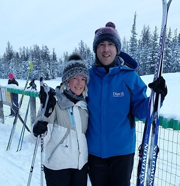 Skiing in Yellowknife