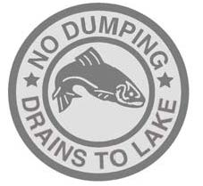 No Dumping - Drains to Lakes Marker