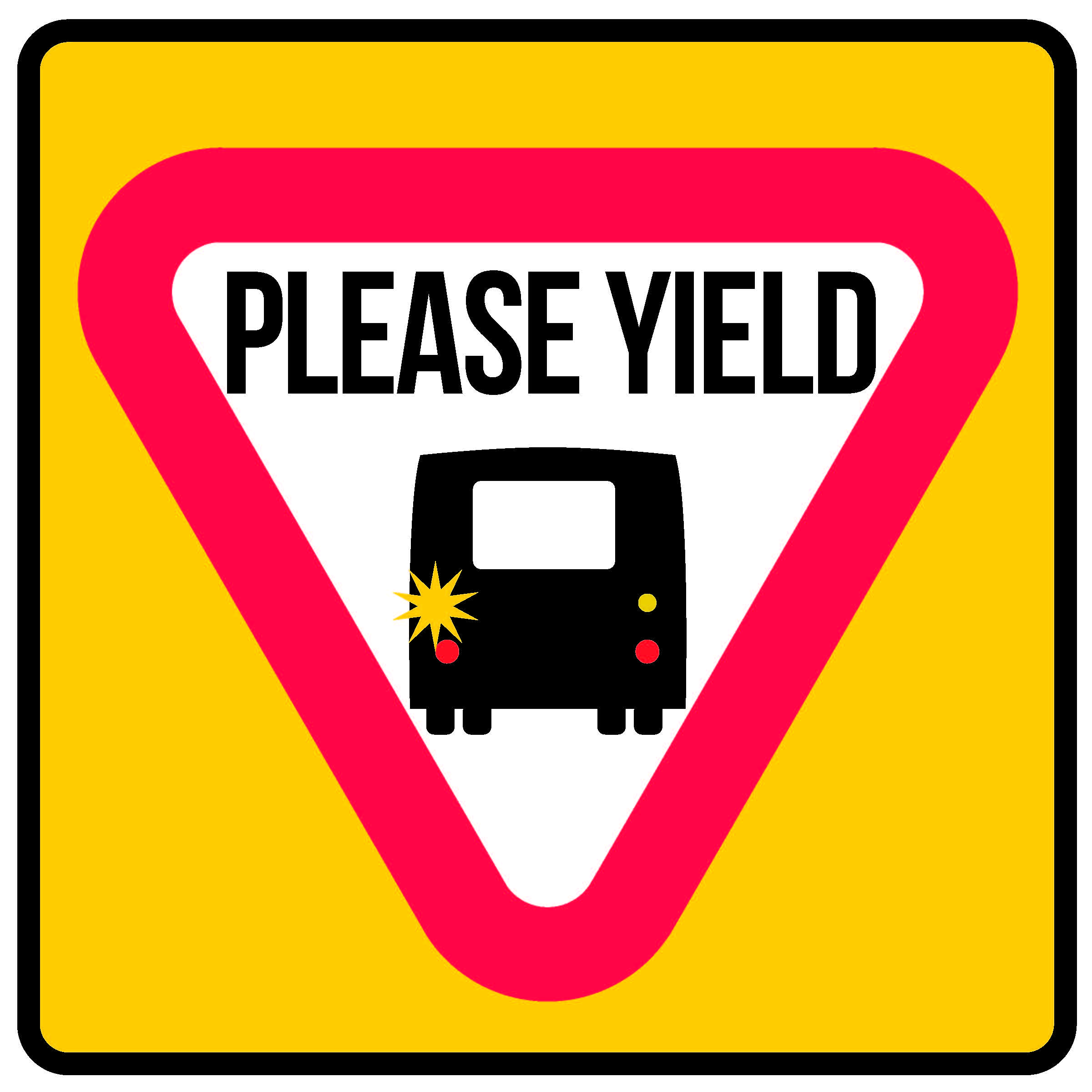 Yiled to bus image